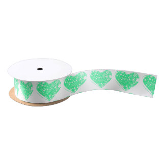 Christmas Heart Background Satin Ribbon