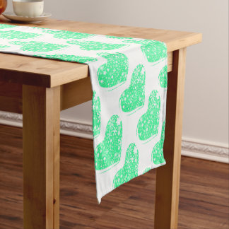 Christmas Heart Background Short Table Runner