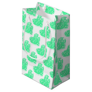 Christmas Heart Background Small Gift Bag