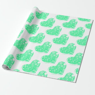 Christmas Heart Background Wrapping Paper