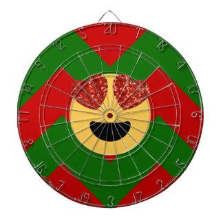 christmas heart eye emoji dartboard with darts