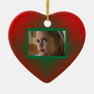 Christmas Heart Personalized Picture Ornament