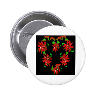 Christmas Heart Pinback Button