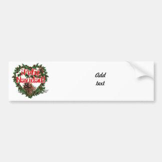 Christmas Heart Wreath (Feliz Navidad) Bumper Sticker