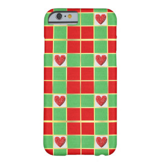 Christmas Hearts Barely There Phone Case