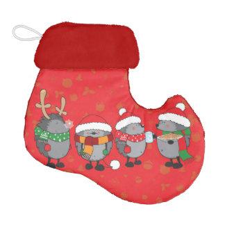 Christmas hedgehogs elf christmas stocking