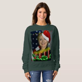 christmas hillary clinton womens sweatshirt
