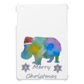 Christmas Hippo iPad Mini Cover
