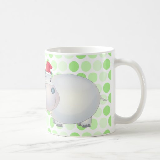 Christmas Hippo Mug