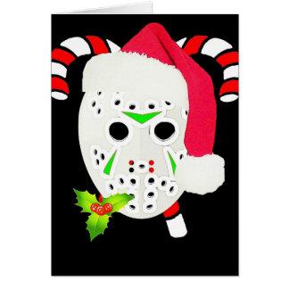 Christmas hockey team greeting cards