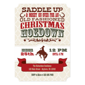 Christmas Hoedown Invitation