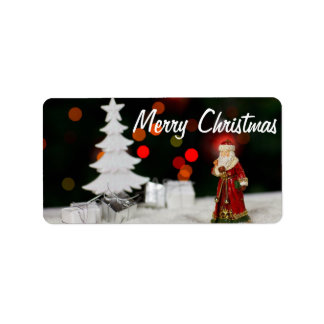 Christmas Holiday Address Label