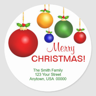 Christmas Holiday Address Labels Stickers