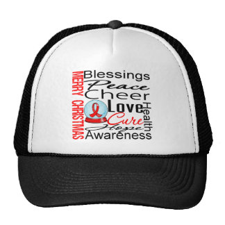 Christmas Holiday AIDS Collage Hats