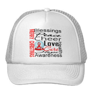 Christmas Holiday AIDS Collage Trucker Hats