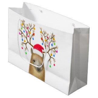 Christmas Holiday Alpaca Gift Bag