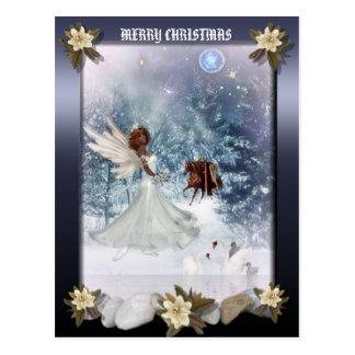 Christmas Holiday Angel postcard