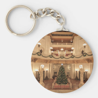 Christmas Holiday at Pennsylvania State Capitol Keychain