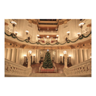Christmas Holiday at Pennsylvania State Capitol Photographic Print