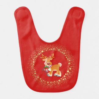 Christmas Holiday Baby Bib-Rudolph Bib