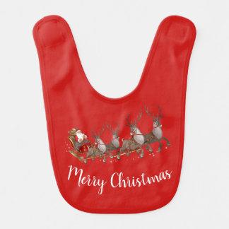 Christmas Holiday Baby Bib-Santa Bib