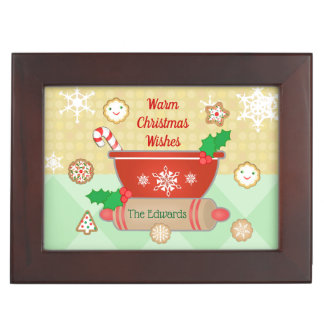 Christmas Holiday Baking Custom Keepsake Box