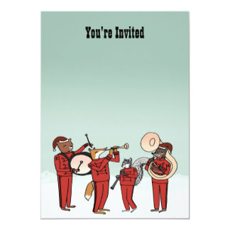 Christmas Holiday Band Invitation