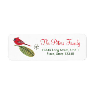 Christmas Holiday Bird | Address Labels