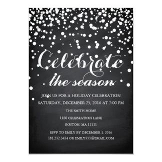 Christmas Holiday Black Chalkboard Family Party 13 Cm X 18 Cm Invitation Card