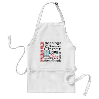 Christmas Holiday Bone Cancer Collage Adult Apron