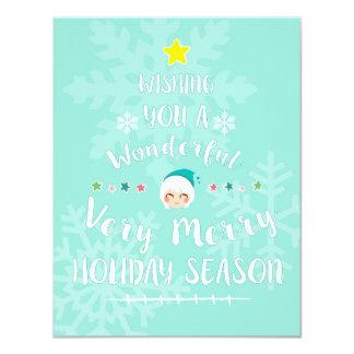 Christmas Holiday Card 11 Cm X 14 Cm Invitation Card