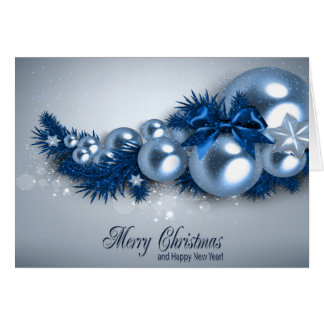 Christmas Holiday Card - Blue Pearl2  Personalize