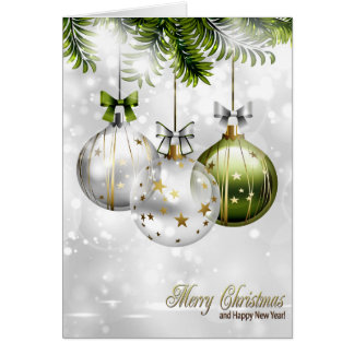 Christmas Holiday Card - Pretty Ornaments