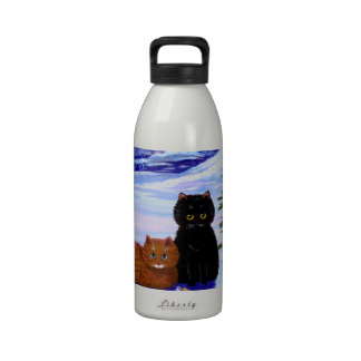 Christmas Holiday Cat Mouse Christian Religious Water Bottle