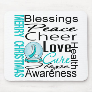Christmas Holiday Cervical Cancer Collage Mousepads