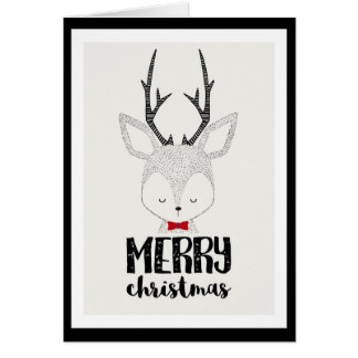 Christmas Holiday - Cute Reindeer Card