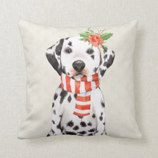 Christmas Holiday Dalmatian Cushion