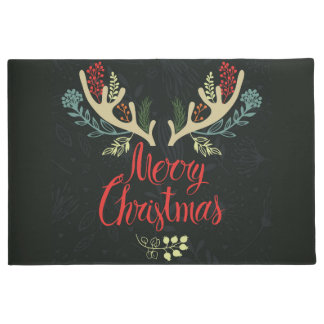 Christmas Holiday Door Mat-Antlers Mooy Christmas Doormat