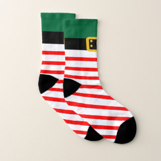 Christmas Holiday Elf All-Over-Print Socks 1