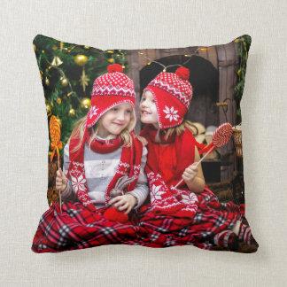 Christmas Holiday Family Photo Cushion