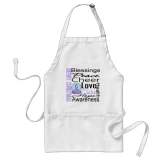 Christmas Holiday General Cancer Collage Adult Apron