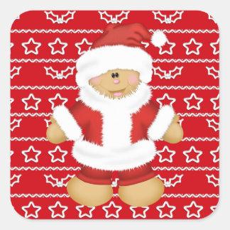 Christmas Holiday Gingerbread cartoon sticker