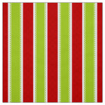 Christmas Holiday Green & Red Stripes Pattern Fabric