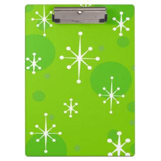 CHRISTMAS HOLIDAY GREEN SNOWFLAKE CLIPBOARD