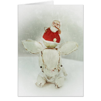 Christmas Holiday Greeting Card - Santa and Aldo