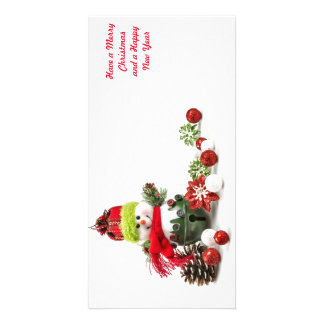 Christmas holiday greeting cards photo card template