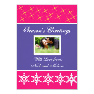 Christmas Holiday Greetings Photo Card 13 Cm X 18 Cm Invitation Card