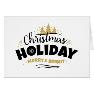 Christmas Holiday - Happy Holiday White BkGrnd Card