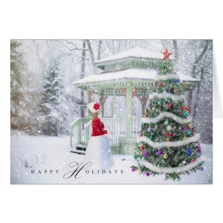 Christmas Holiday - Happy Holiday Xmas Scene Girl Card