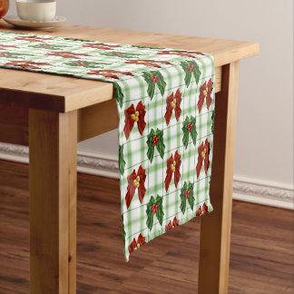 Christmas Holiday Holly Berry Red and Green Plaid